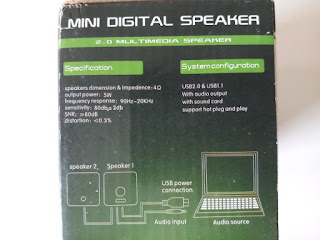 2.0 multimedia speaker Specification and System Configuration