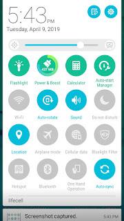 Включить геолокацию на панели быстрых настроек смартфона - switch on GPS location on Android Quick setting panel