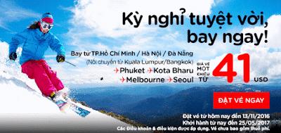 Air Asia siêu khuyến mãi kỳ nghỉ tuyệt vời