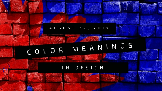 red and blue is the background color of color meanings in design