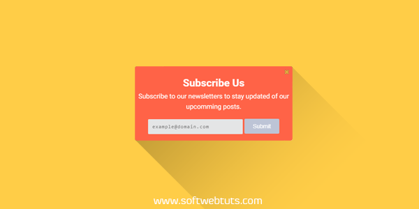 OnScroll Slide in subscription form widget for blogger