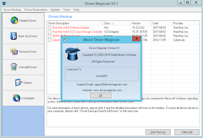 Screenshot Driver Magician 5.1 Full Version
