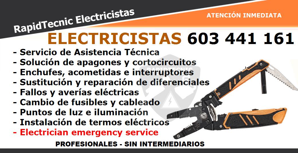 Rapidtecnic murcia electricistas las salinas san pedro del pinatar 603 441 161 - Electricistas en murcia ...
