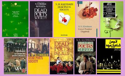 portadas del libro El club de los poetas muertos, de N. H. Kleinhaum