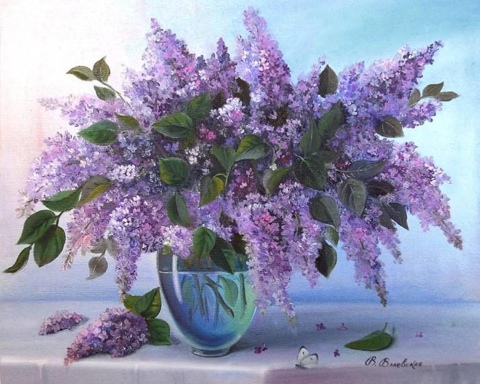 Акварельные рисунки цветов. Валентина Валевская 3