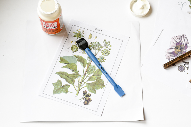 Glue printable to scrapbook paper