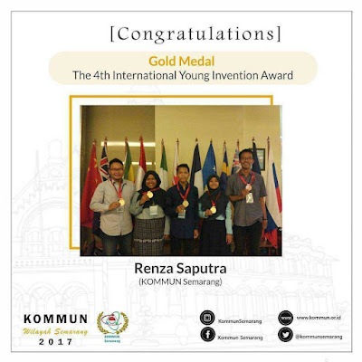 KOMMUN Bangga: Peraihan Medali Emas di The 4th International Young Invention Award