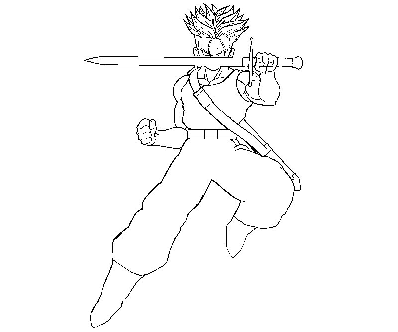 trunks with sword coloring pages