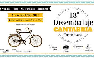 cartel anunnciador del desembalaje Cantabria 2017