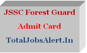 JSSC Forest Guard Mains Admit Card