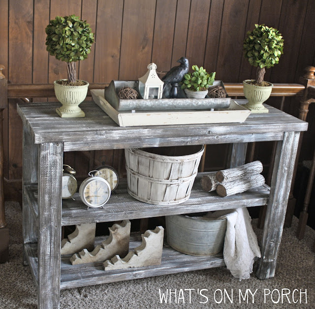 How To Make New Wood Look Weathered & Old: Farmhouse Console