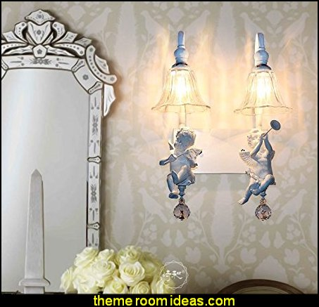 angel wall lights angel wall sconcce  mythology theme bedrooms - greek theme room - roman theme rooms - angelic heavenly realm theme decorating ideas - Greek Mythology Decorations -  angel wall lights - angel wings decor - angel theme bedroom ideas - greek mythology decorating ideas - Ancient Greek Corinthian Column - Angel themed baby room - angel decor - cloud murals - heaven murals - angel murals