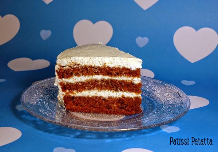 gâteau américain, gâteau aux carottes,