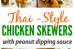 Chicken Satay Skewers with Peanut Dipping Sauce