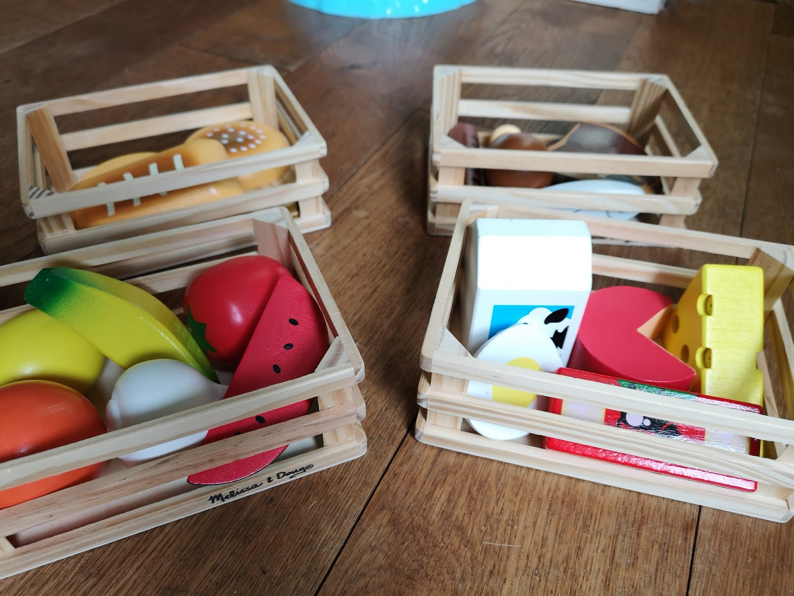Melissa & Doug Wooden Food Crates