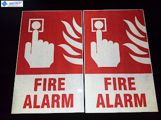 Reflective Fire Alarm Signs