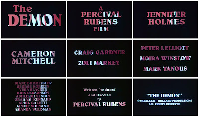 Title cards for Percival Rubens' THE DEMON (1981)