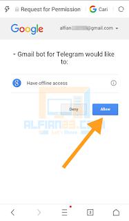 Izinkan akun GmailBot