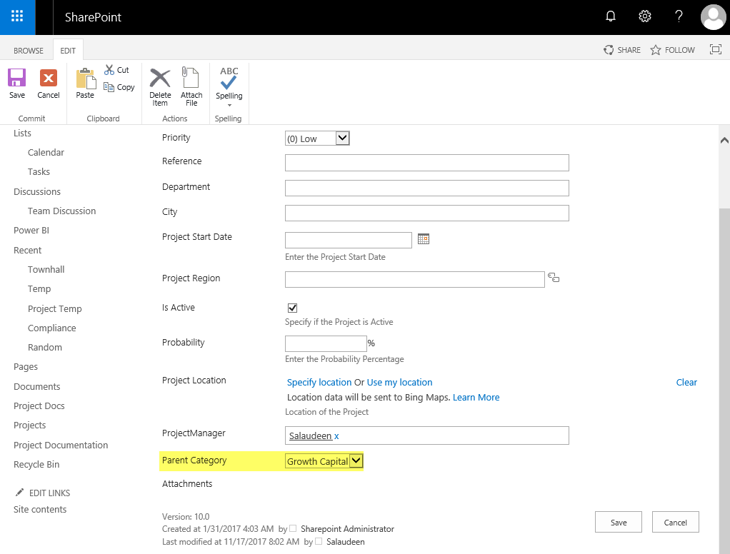 sharepoint online lookup on choice field
