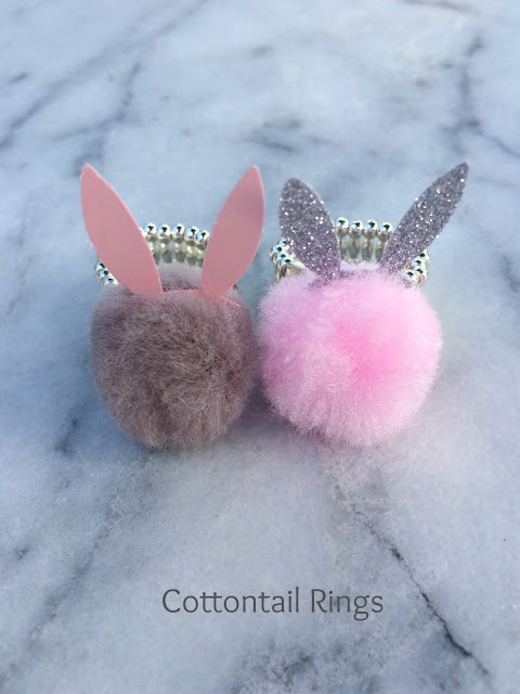 DIY Cottontail Easter Rings!  The perfect Easter accessory | www.jacolynmurphy.com