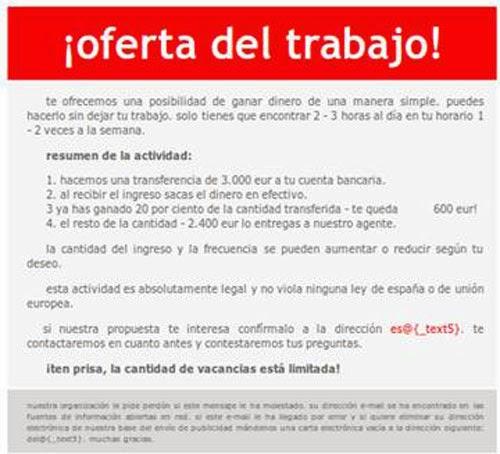 6ba74870185 IDENTIFICA OFERTAS FALSAS DE TRABAJO. FRAUDES ONLINE ~ CONSEJOS PARA ...