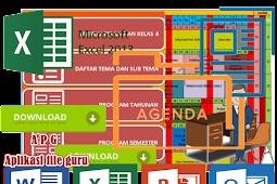 Aplikasi Prota Promes Kelas 4 SD Format Microsoft Excel