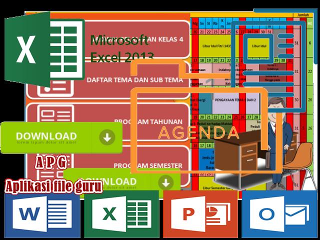 Aplikasi Prota Promes Kelas 4 dengan Microsoft Excel