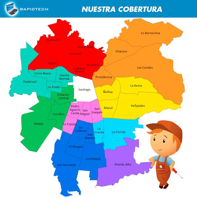 Reparación de PC en toda la Región Metropolitana de Santiago