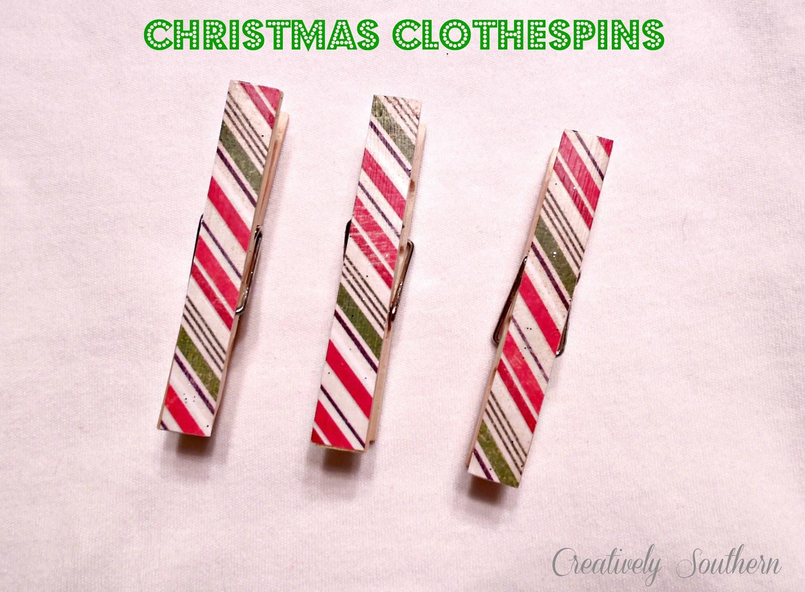 Christmas Clothespin Craft