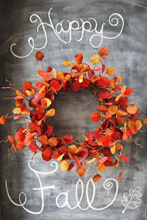 ghirlanda di foglie colorate fai da te