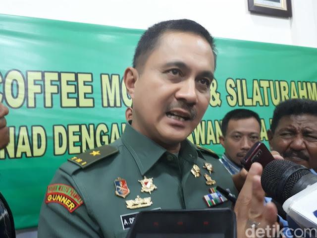 Image result for Kadispen TNI AD Brigjen Alfret Denny Tuejeh