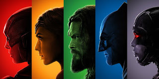 Justice League Colour Posters