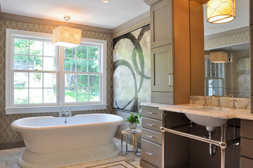 Ide Desain Rumah 20 Desain Kamar Mandi Dengan Bathtub Terbaru
