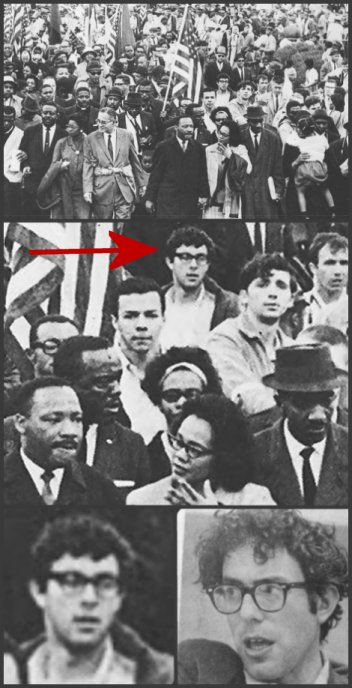 Bernie Sanders with MLK