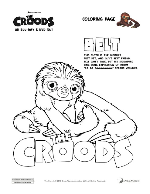Belt colour page the croods