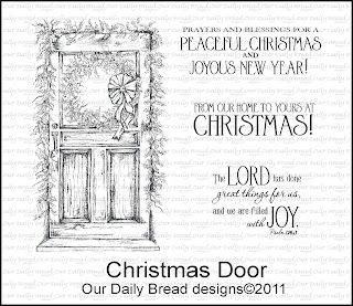 Our Daily Bread Designs - Stamps Christmas Door
