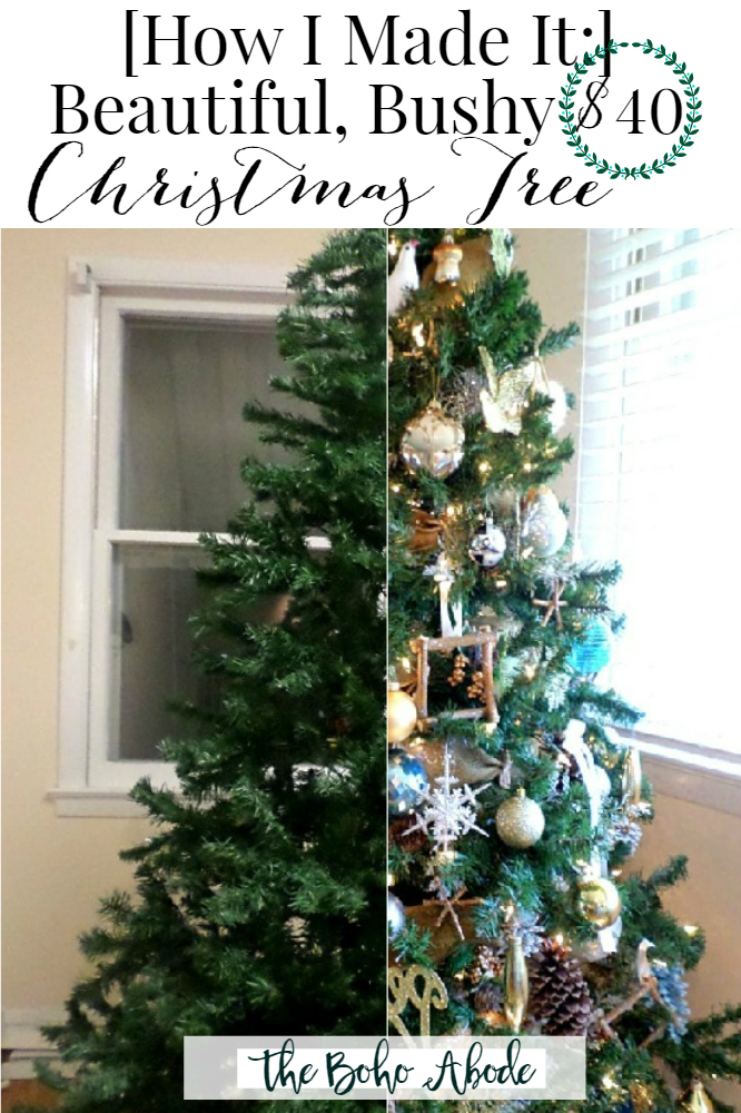 Get The Most Out Of A Cheap Christmas Tree The Boho Abode