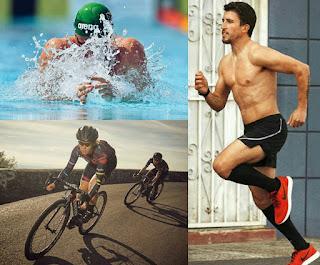 olahraga renang vs bersepeda vs lari