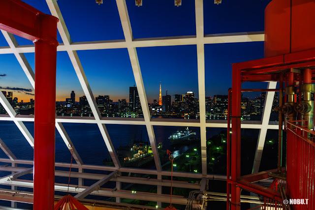晴海客船ターミナル6F展望台からの景色