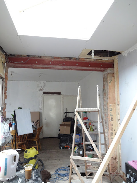 kitchen renovation updates: plasterboard the ceiling