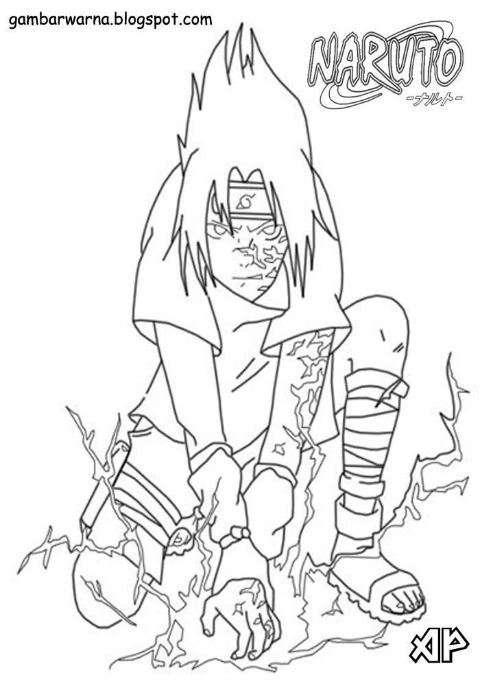 Mewarnai Sasuke Belajar Mewarnai Gambar