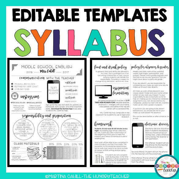 Editable Syllabus Templates Editable Meet The Teacher