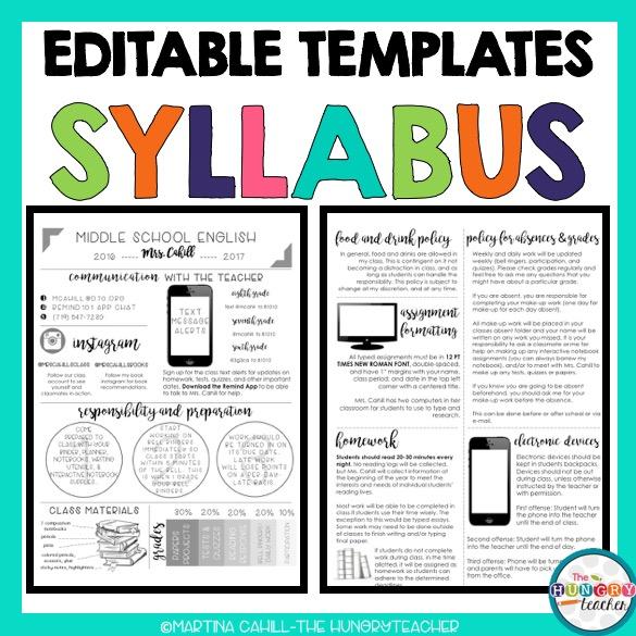 Editable Syllabus Templates, Editable Meet the Teacher Templates ...