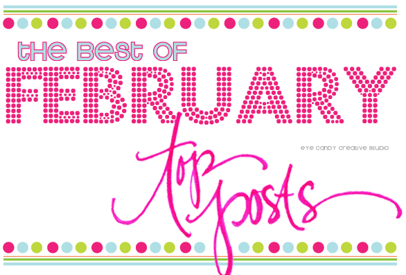 top posts, the best of february, favorite blog posts, hand lettering, crafting