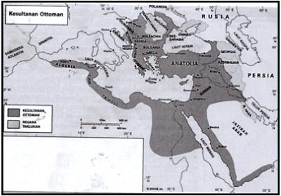 Peta wilayah Balkan pada masa Kesultanan Ottoman-Turki