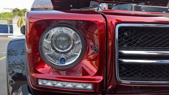 Mercedes AMG G63 sử dụng Hệ thống đèn pha Bi-xenon , Đèn chiếu sáng ban ngày sử dụng Công nghệ LED