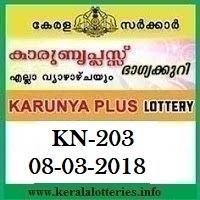 KARUNYA PLUS (KN-203) LOTTERY RESULT