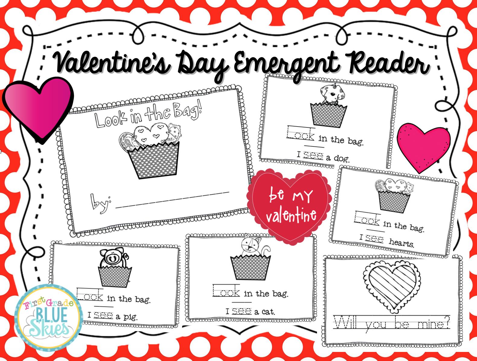 Freebielicious Valentine S Day Emergent Reader Freebie