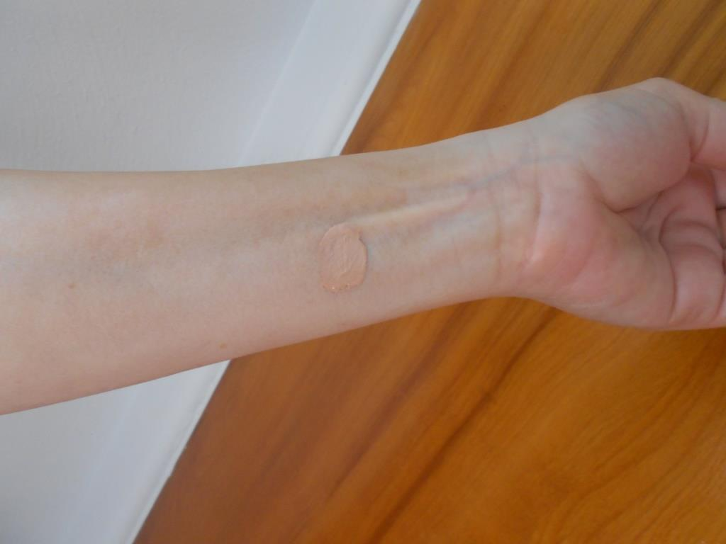 swatch of CC cream from No Make No Life July 2017 Japanese Beauty Box