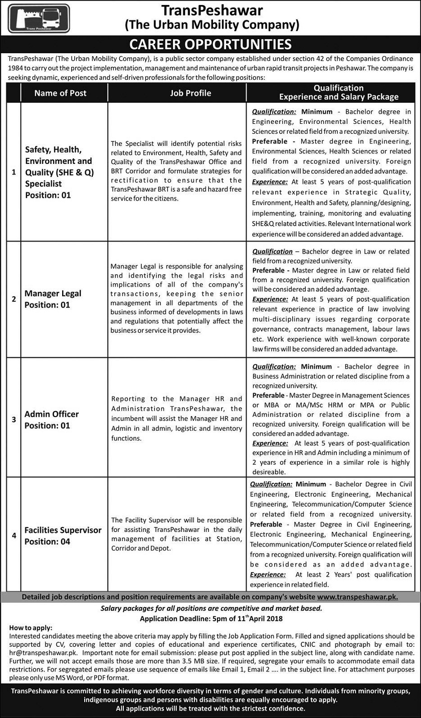Jobs in KPK, Jobs in Peshawar, Engineering Jobs 2018, Electrical, Mechanical ,Civil, Environmental, LLB Jobs, MBA Jobs , HRM Jobs, Business Management Jobs 2018
